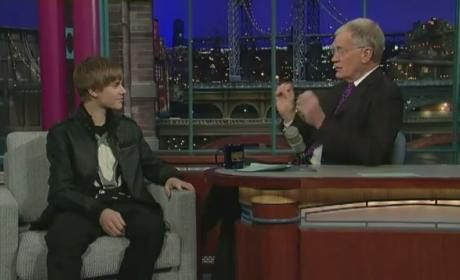 Justin Bieber on The Late Show