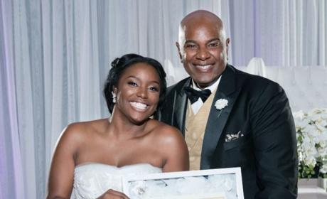 "Bride Presents Dad with ""Certificate of Purity"" on Wedding Day"