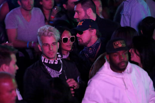 Leonardo DiCaprio and Rihanna at Coachella party