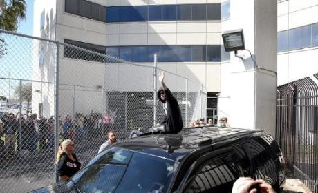 Justin Bieber Released from Jail: See the Footage, Hear the Screams