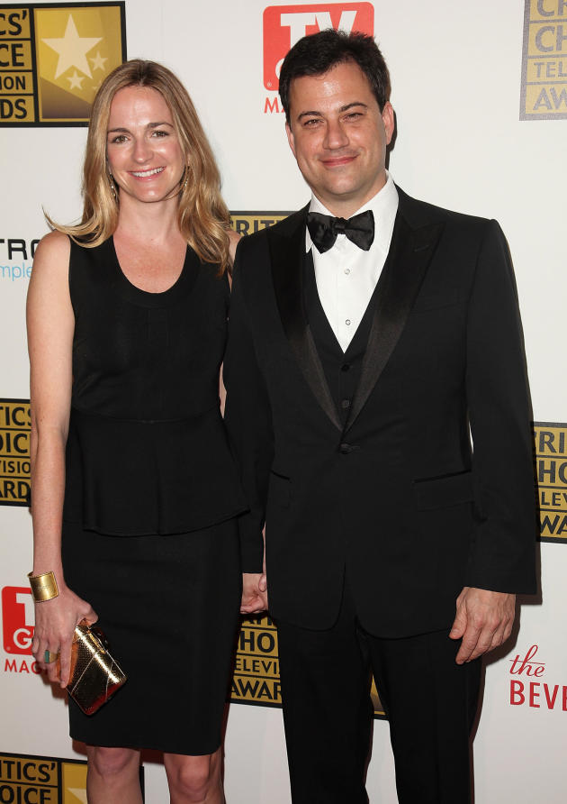 Molly McNearney and Jimmy Kimmel