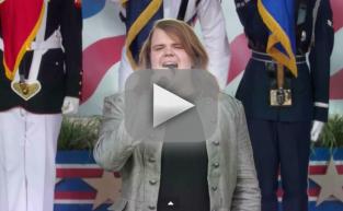 Caleb Johnson Sings National Anthem