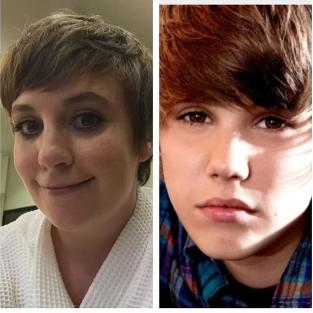 Lena Dunham, Justin Bieber Photo