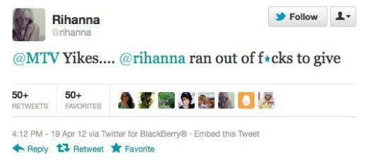 Rih-Tweeted