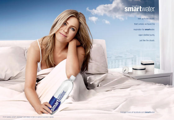 Jennifer Aniston SmartWater Advertisement