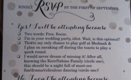 Couple Sends Out Greatest Wedding RSVP of All-Time