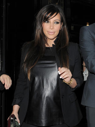 Kim in Leather!