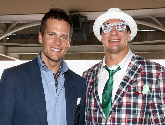 Rob gronkowski at the derby