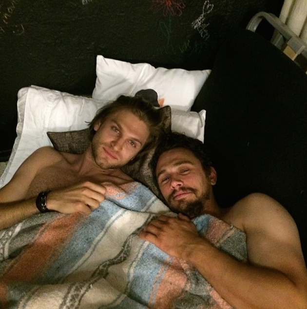 James Franco and Keegan Allen in Bed
