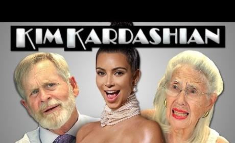 Old People React to Sight of Kim Kardashian Nude