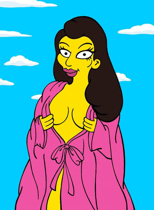 Kim Kardashian as a Cartoon