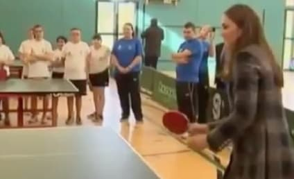 Kate Middleton Plays Ping-Pong, Basketball in Scotland