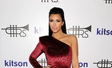 Kim Kardashian Red Leopard Dress Rich Soil Launch