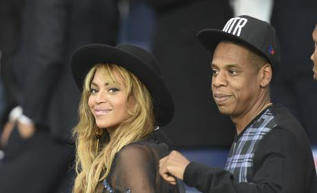 Beyonce and Jay-Z: Paris Saint-Germain Soccer Match
