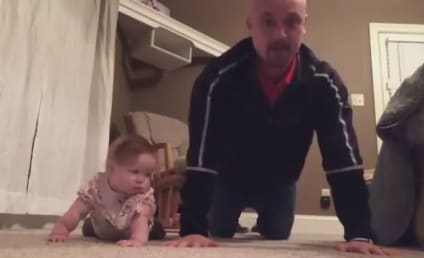 """Baby and Dad Work Out Together in Viral """"Exercise"""" Video: Watch in AWW Now!"""