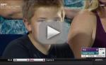 Young College Baseball Fan Stares Into Camera, Your Soul