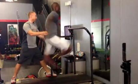 Chad Johnson Treadmill Sprint