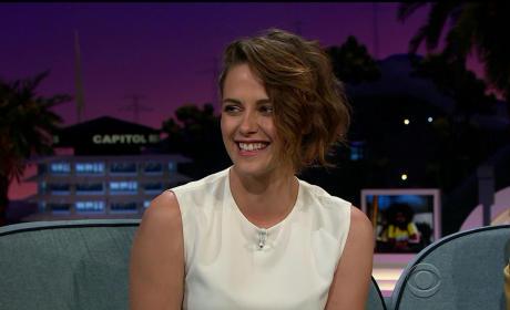 Kristen Stewart is Smiling!