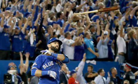 Joey Bautista Bat Flips His Way Into History