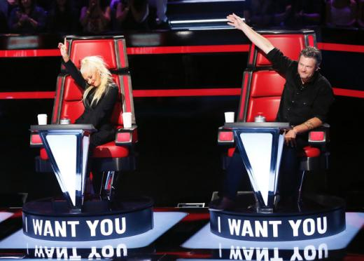 Blake Shelton and Christina Aguilera: 'The Voice' Blind Auditions