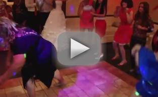 Russian Woman Dances at Wedding