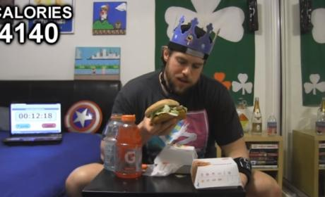 Man Eats Every Burger King Burger in One Sitting