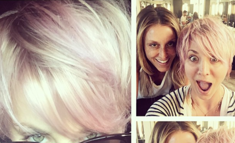 Kaley Cuoco Hair Color Change: Pretty in Pink?