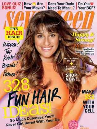 Lea Michele Seventeen Cover