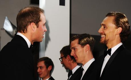 Tom Hiddleston and Prince William