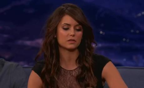 Nina Dobrev on Conan - Sex Scene Advice