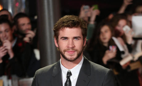 Liam Hemsworth at Catching Fire Premiere