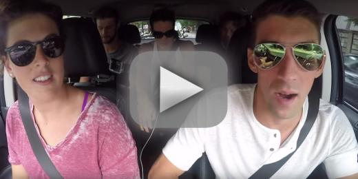 Us swimmers take carpool karaoke to olympic heights