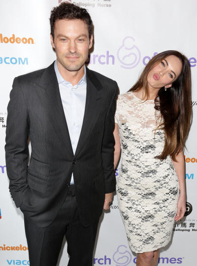 Brian Austin Green and Megan Fox Pose