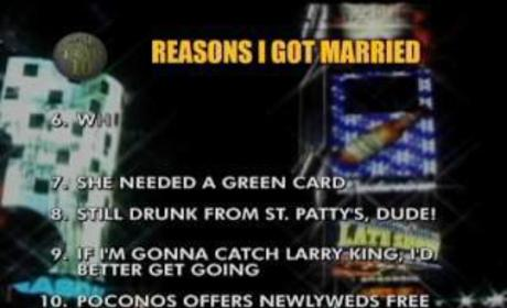 David Letterman Reveals Top Ten Reasons He Got Married
