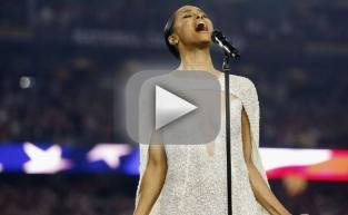 Ciara Sings National Anthem, Exposes Her Cleavage