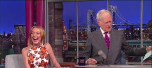 Lohan on Letterman