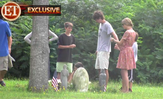 Taylor Swift and Conor Kennedy Pay Respects