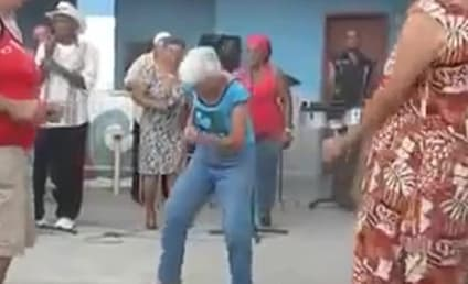 Sexy Granny Shows Off Salsa Moves, Younger Guys Can't Even Deal