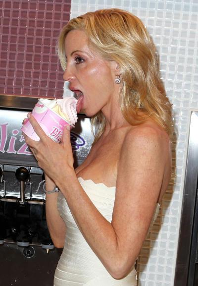 Camille Grammer Likes Frozen Yogurt