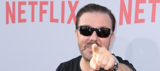 Ricky Gervais Pointing