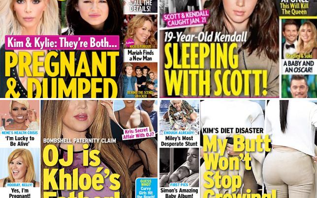 Kim kardashian and kylie jenner cover