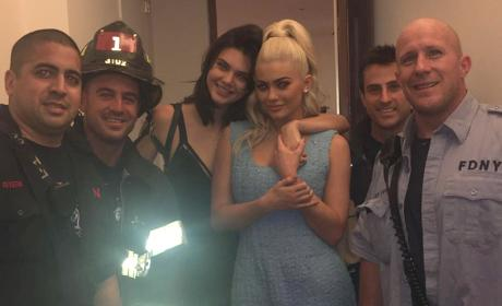 Kendall and Kylie Jenner in an Elevator