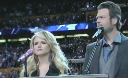 "Miranda Lambert, Blake Shelton Perform ""America the Beautiful"" at Super Bowl"