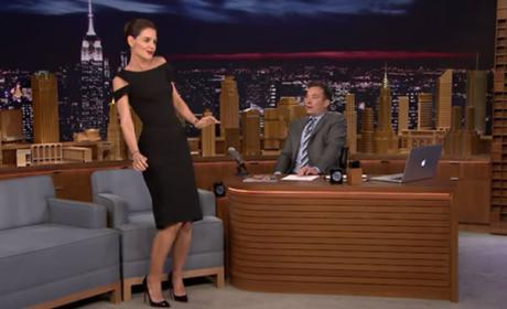 Katie Holmes Tries to Dance Like Beyonce, Fails