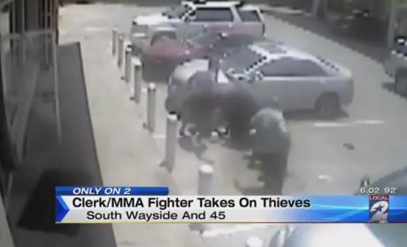 Gas Station Employee Uses MMA Training to Fight Off Robbers: Watch the Video!