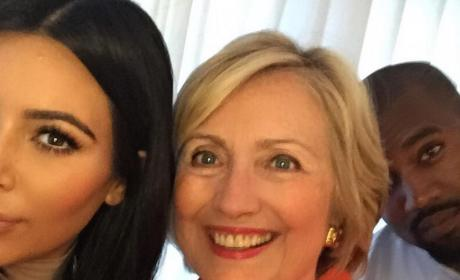 Kim Kardashian and Hillary Clinton: See Their Epic Selfie!