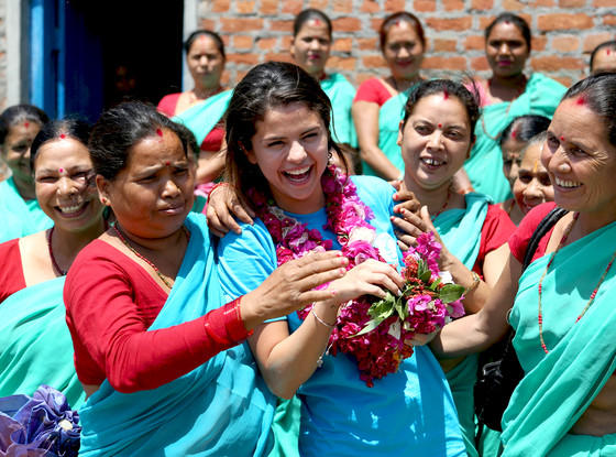 Selena Gomez: Laughing in Nepal