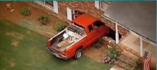 Two-Year-Old Drives Pickup Truck Into Neighbors' House