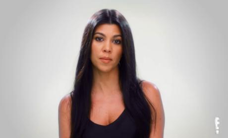 Kourtney Kardashian Looks Bored