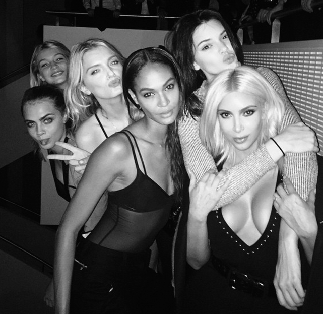 Kim Kardashian and Models
